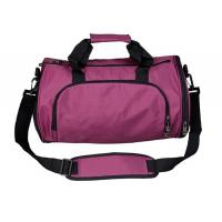 China Casual Waterproof  Nylon Duffel Bags , Pink  Women'S Duffel Bag Two Side Pockets on sale
