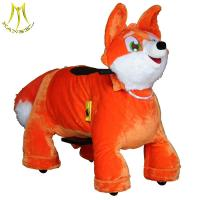 China Hansel   family amusement fox rides animal bike for mall kids amusement outdoor rides on sale