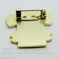 Cloisonne T-shirt pin with safety pin