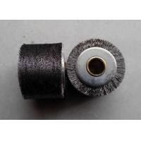 Best Peeling Paint Industrial Roller Brushes 1.4 Inch Wide Face Brass Plated Steel Wire wholesale