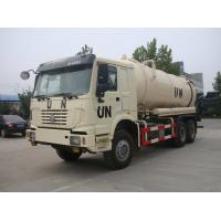 China Full Driving 12 Wheel UN Sewage Tanker Truck With Self Dumping System 10m3 To 12m3 on sale
