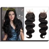 Buy cheap Shedding Free  Natural Black Weft 100%  virgin human hair loose wave   14inch 16inch product