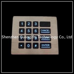China Vending Machine Backlit Numeric Keypad Customizable Layout Shake Proof on sale