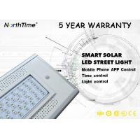 Best 4000LM 12V 30Ah Cool White Solar Powered Street Lights With 120° Visual Angle wholesale