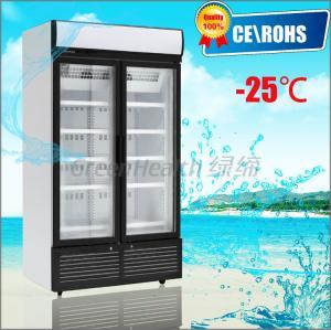 China 2 Glass Hinge Door Vertical Freezer , Sliding Glass Door Freezer on sale