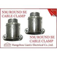 "Best Aluminum 1/2"" 3/4"" NM Round SE Cable Clamp For Bond the Wire to Outlet Box wholesale"