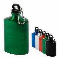 China 600mL Aluminum Water Bottle with Carabiner on sale