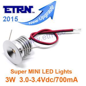 China ETRN Brand 2015 Upgrade  Super MINI 3W LED Downlight Stairway Lights Spotlight Recessed lights DC3.0-3.4V / 700mA on sale