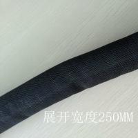 China Flexible self wrapping braided sleeving Split Semi-Rigid Cable Sleeving on sale