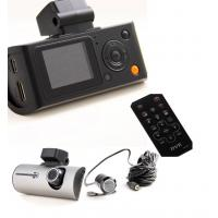 China 1080p Black Box HD Dual Camera Car DVR With TF Card , Loop Video Recording on sale