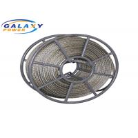 China 18mm 200kN Galvanized Steel Anti Twist Wire Rope With 6 Squares on sale