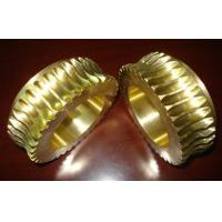 China Durable Gold Brass Worm wheel / gear hobbing services and CNC Turning on sale