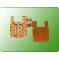 China Immersion Gold PCB Flexible Printed Circuit Board For Mobile Keypad on sale