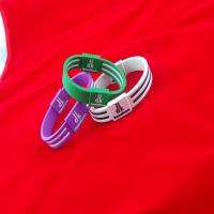 Best Custom Design Silicone Balance Bracelet Power Energy Bracelet With 2 Hologram Wristband wholesale