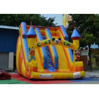 Buy cheap Fireproof Inflatable Bouncy Castle And Slide Customized For Little Kids Playing from wholesalers