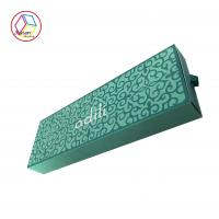 China Green Hair Extensions Packaging Box , Cardboard Wig Box Customized Logo on sale