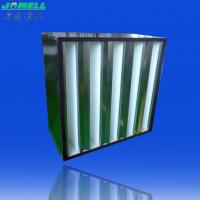 Best Plastic Frame Pleated HEPA Filter - EN 1822 V Bank Filter WIth High Air Flow Rates wholesale