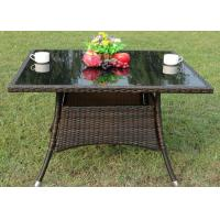 China Square Pe Rattan Table Outdoor or Indoor Restaurant Furniture wholesale