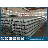 Best 450daN   Steel Utility Electrical Power Pole GR65 With More Than 25 Years Life Period wholesale