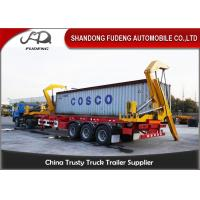 China 3 Axle 40 Feet 20 Feet Side Loader Trailer For Loading 20&40ft Containers on sale