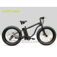 """Best 26"""" x 4.9 Fat Tire Electric Beach Snow Cruiser Bicycle 48V 750W Rear Gear Motor wholesale"""