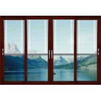 Best 2.0mm profile thickness red sandalwood aluminum lift and slide doors for living room wholesale