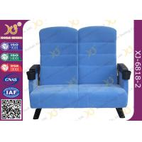 Best Double Seat Two Seater Cinema Theatre Seating Chairs With Plastic Cover For Couple wholesale