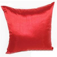 China Custom cushion cover 45cm silk red pillow cover designer cushion cover on sale