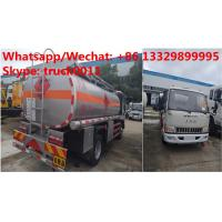 Best Factory sale high quality and lower price JAC 4*2 LHD 5500L oil tanker fuel transport truck diesel tank truck wholesale