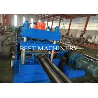 China Road Safety Highway Guardrail Roll Forming Machine 22kw Power PLC Control on sale