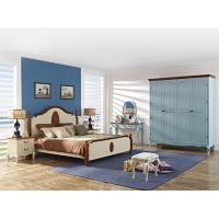 Best Crown of ancient Rome Rubber headboard bed in natural wood and column with Theropods legs open door wardrobe cabinet wholesale