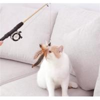 Buy cheap Retractable Feather Teaser Cat Toy Plastic Material For Pet Cat Play from wholesalers