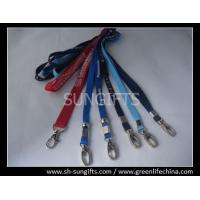 Best Standard polyester staff lanyard with metal oval hook and metal bead wholesale