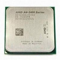Best 65W AMD A4 X2 Dual Core A4-3400 CPU Processor with 2.7GHz Frequency and FM1 Socket wholesale