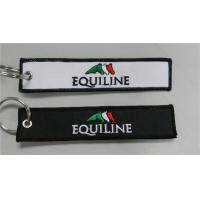 China Equiline Easy Use Key Chain Luggage Tag Zipper Pull Fabric Embroidery Keychain on sale