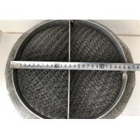 Best SS 304 / 316 Wire Mesh Demister Pad For Gas Liquid Separation Air Purification wholesale