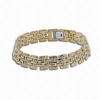 Best Stainless Steel Bracelet with Carbon Fiber, Silver and Gold Plating Available wholesale