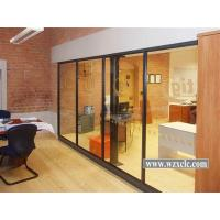 Best 5mm/8mm/10mm/12mm Single Famed Aluminium Glass Modular Office Partitions With Stud Walls wholesale