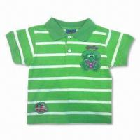 China 100% Cotton Children's T-shirt, Customized Colors are Available on sale