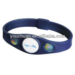Best Yellow , Blue Power Silicone Balance Bracelet , OEM Wrist Bracelets\ wholesale