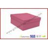 China Rigid Luxury Pink Gift Boxes Matt Lamination , jewelry gift boxes wholesale