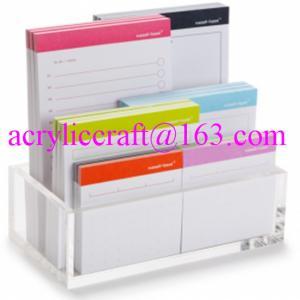 Best Acrylic memo holder tabletop clear plexiglass paper note holder wholesale