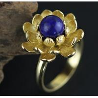 Best 925 sterling silver natural freshwater pearls, beautiful three-dimensional lotus ring wholesale