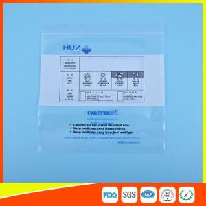 Transparent Airtight Ziplock Plastic Bag For Medicine Tablet Custom Printed
