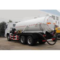 China Vacuum Suction Vehicle 15-18CBM RHD Vacuum Tank Truck With Pipe System on sale