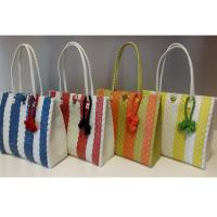 Best Summer Woven Beach Bag Colorful PP Shopping Bag Strap Straw Tote Bag wholesale