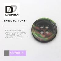 China Multicolor Pearl Shell Buttons 4 Holes For Baby Clothing / Woolen Sweater on sale