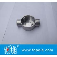 Best TOPELE 20mm / 25mm BS4568 / BS31 Electrical Two Way Circular Angle Aluminum Junction Box, Electrical Conduit Fittings wholesale