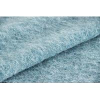 Buy cheap Plush Soft Textile Solid Blue Fabric , Fashion Wool Mohair Upholstery Fabric product