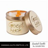 Best Really Good Smelling Scented Tin Candles With Round And Top Printing Sticker wholesale